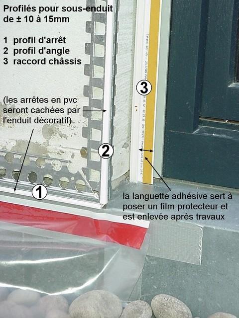 Rénovation façade à Liège, R-profils 10mm